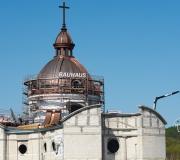 20210512 - Montaż okien na kopule kościoła